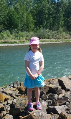 Reilyn river pix 5 years old