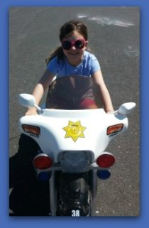 Rielyn on bike II - age 6